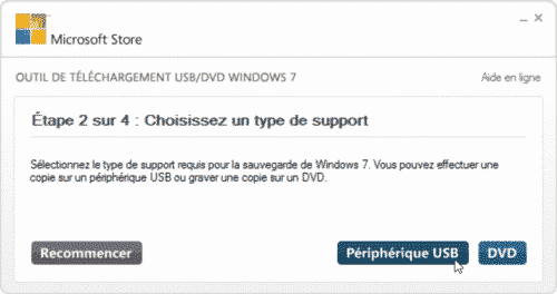 clé USB bootable Windows